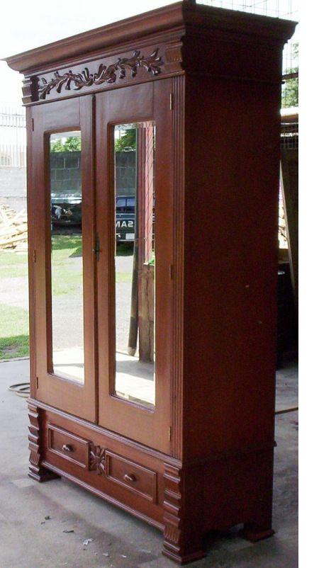 Armario Victoriano con espejos biselados: $ 1,600.00 dólares ...