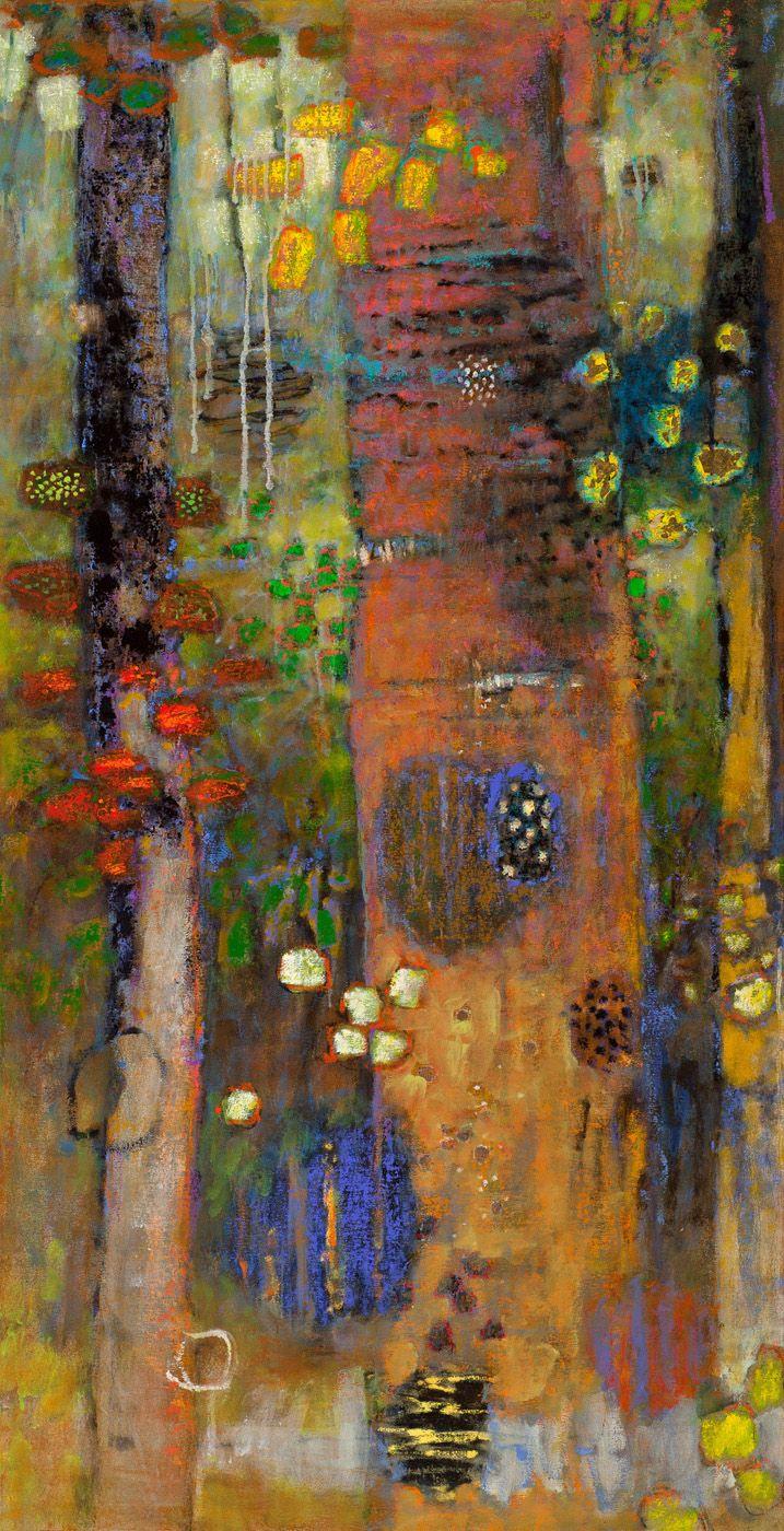 "Modulating Presence | oil on canvas | 62 x 32"" | 2015"