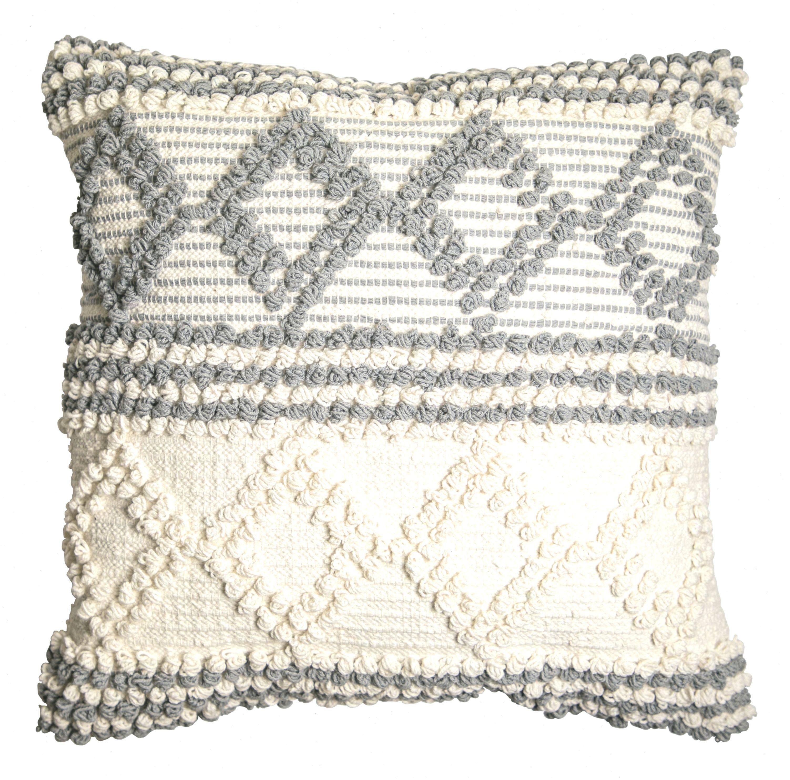 Better Homes Gardens Fringe Textured Decorative Throw Pillow