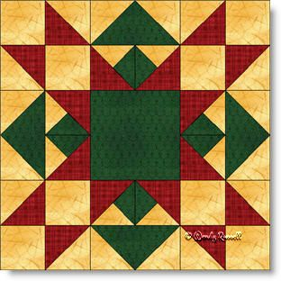 Christmas Star quilt block featuring flying geese, half square ... : christmas quilt block - Adamdwight.com
