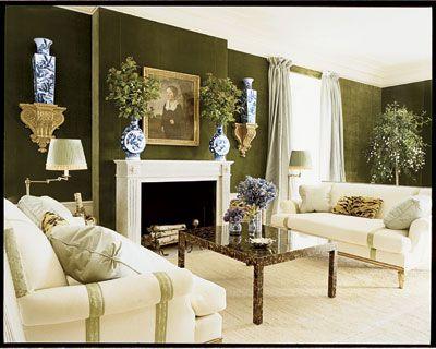 green velvet walls Color Green Rooms I Love Pinterest For the