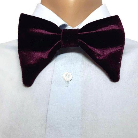 Men/'s Velvet Tuxedo Pre Bowtie Vintage Butterfly bow tie Oversize Bow Tie Sets