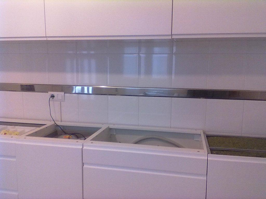 Fotos de cenefas de acero inoxidable decorar tu casa - Cenefas cocinas modernas ...