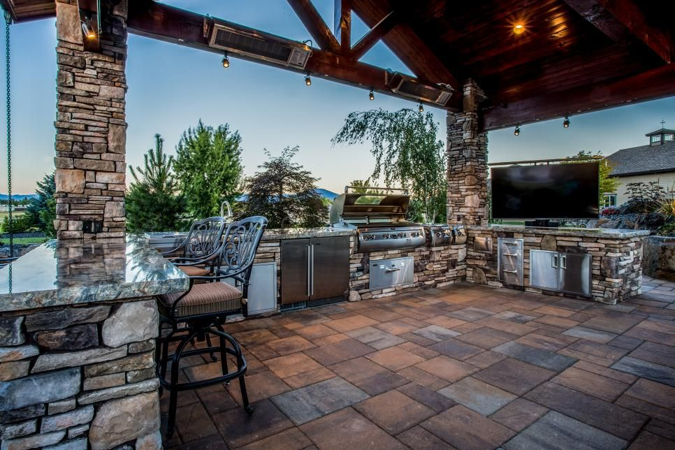 HGTV Presents A Rustic Luxury Backyard Space Thatu0027s Fully  Wheelchair Accessible. It Includes A Gazebo With Outdoor Kitchen, Swimming  Pool, And Even A ...