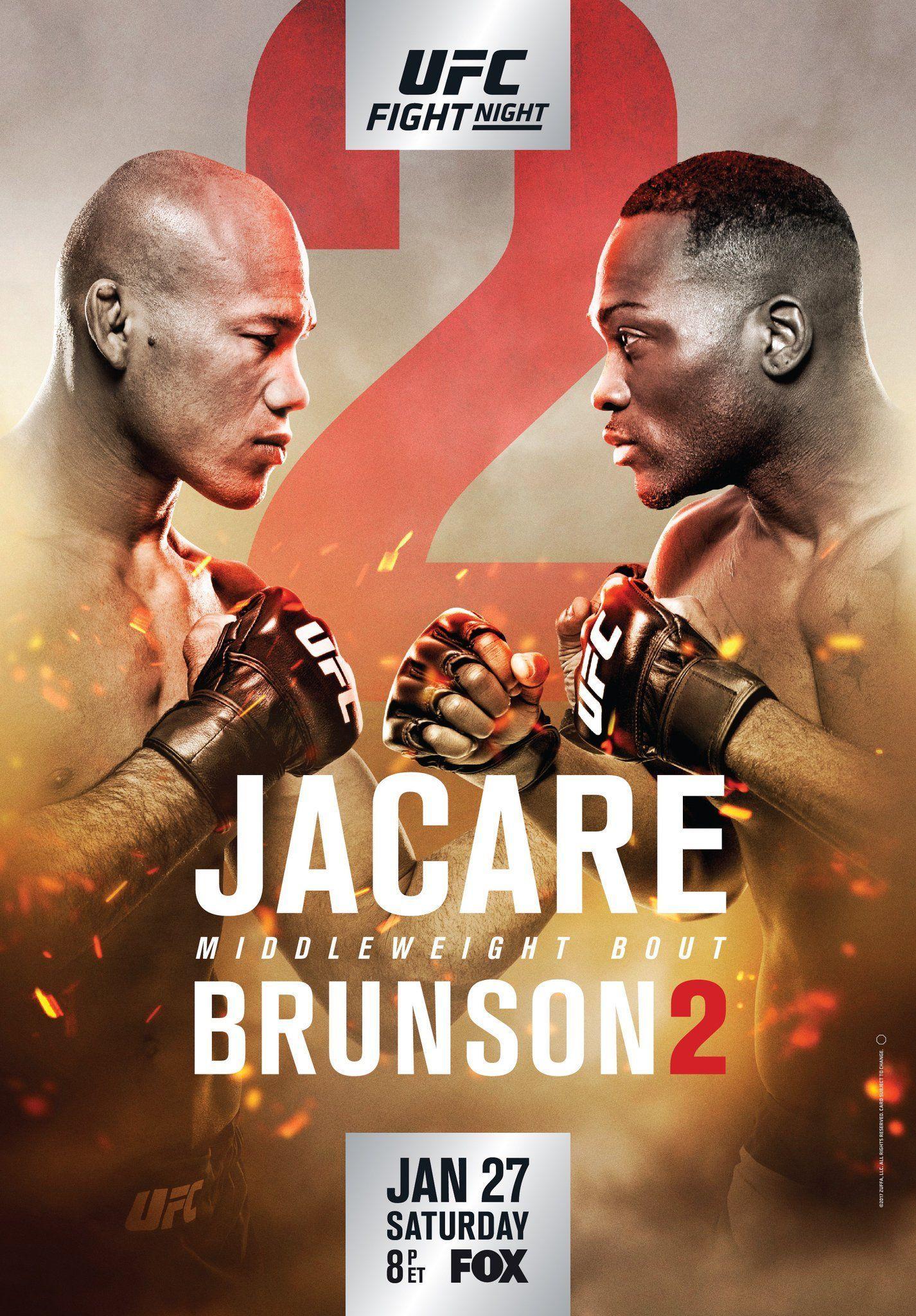 UFC ON FOX 27 JACARE VS. BRUNSON Ultimate Fighting