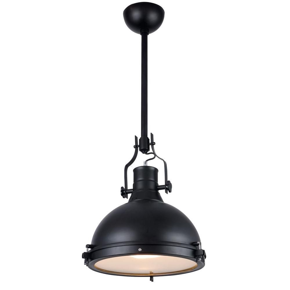 Elegant lighting industrial light black pendant lamp tahoe