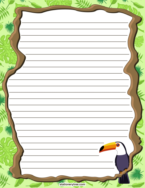 Printable Rainforest Stationery And Writing Paper. Free PDF Downloads At  Http://stationerytree