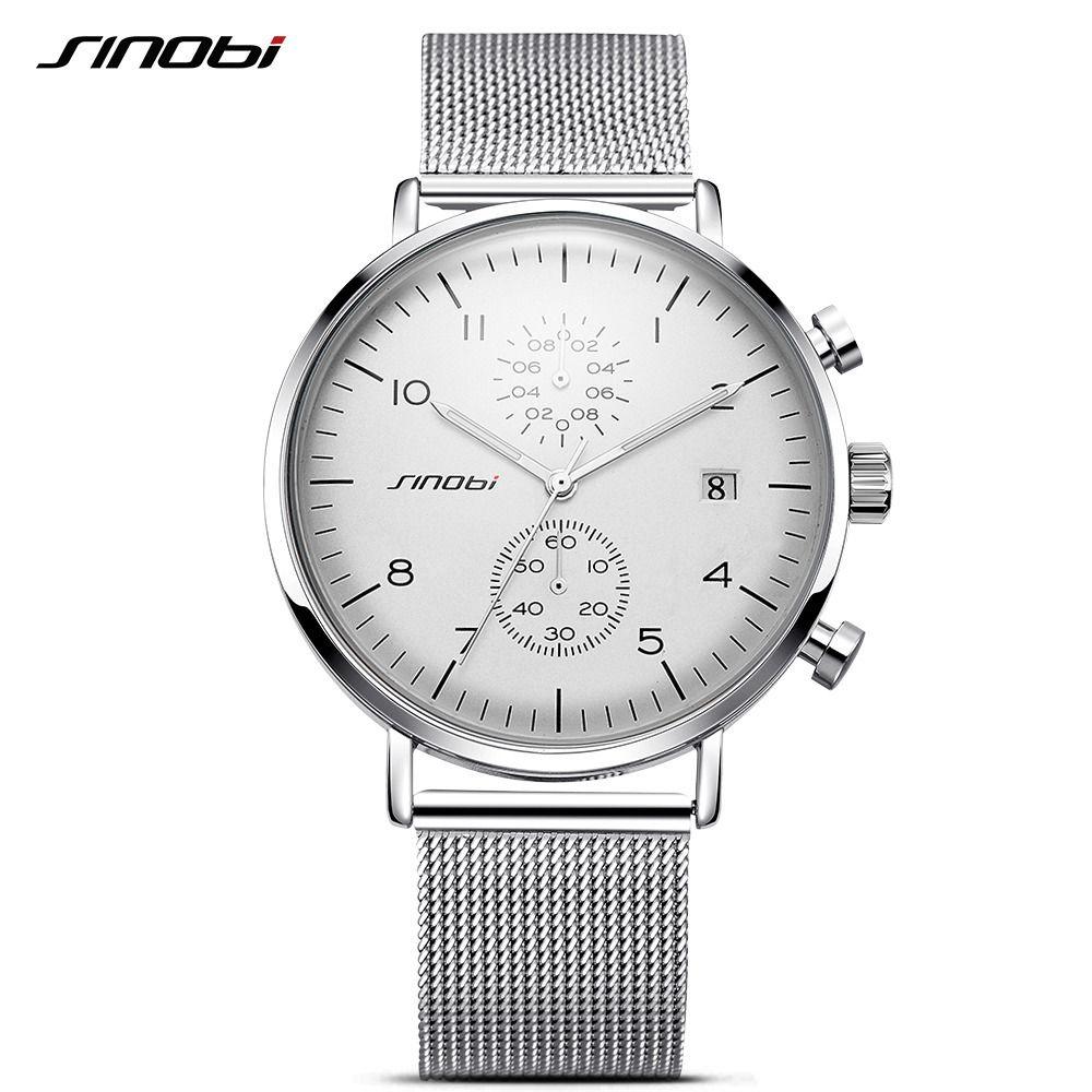 f5097780415 SINOBI 2017 Homens Relógios Top Marca de Luxo Negócio Relógio de Quartzo  Ponteiro Luminoso Relógio Relogio masculino Dos Homens Do Esporte À Prova  D  Água ...