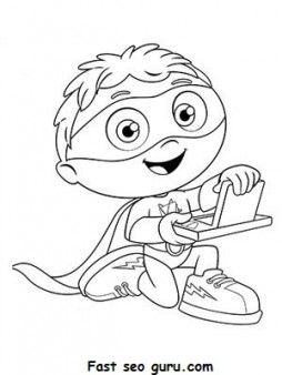 graphic about Super Why Printable referred to as Totally free Printable Cartoon Tremendous WHY Coloring Web pages for small children