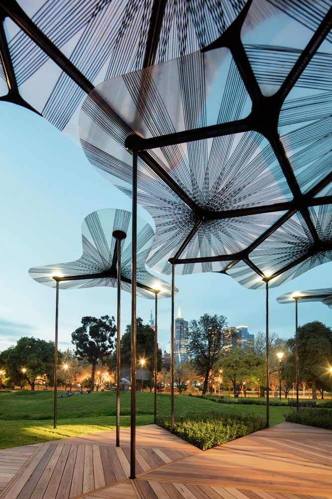 Gallery of Amanda Leveteu0027s MPavilion Opens in Melbourne - 5. Canopy ArchitectureMelbourne ArchitectureLandscape ... & Gallery of Amanda Leveteu0027s MPavilion Opens in Melbourne - 5 ...
