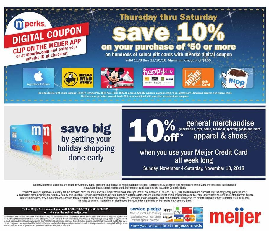 image about Meijer Printable Coupons identified as Meijer Family vacation Present Plans 2018 Advertisements and Discounts Read the