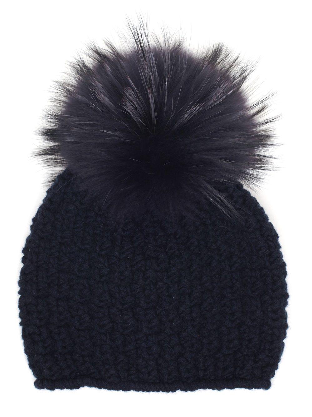 knitted fox fur scarf - Black inverni lYXSO1QLrj
