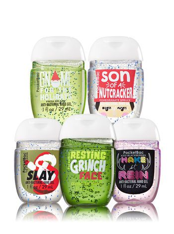 Edgy Christmas 5 Pack Pocketbac Sanitizers Bath And Body Works