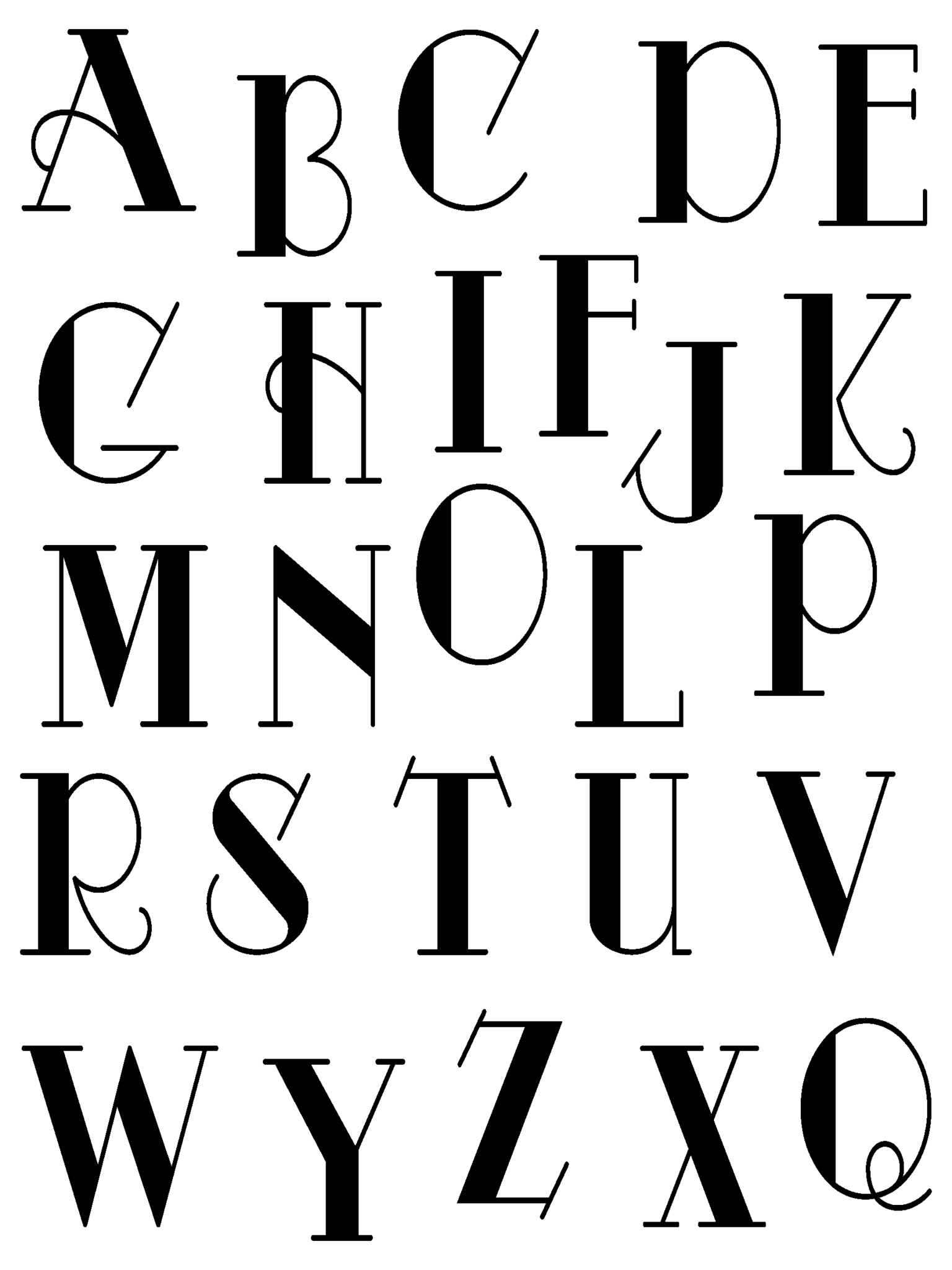 Large Fancy Letters Clear Stamps