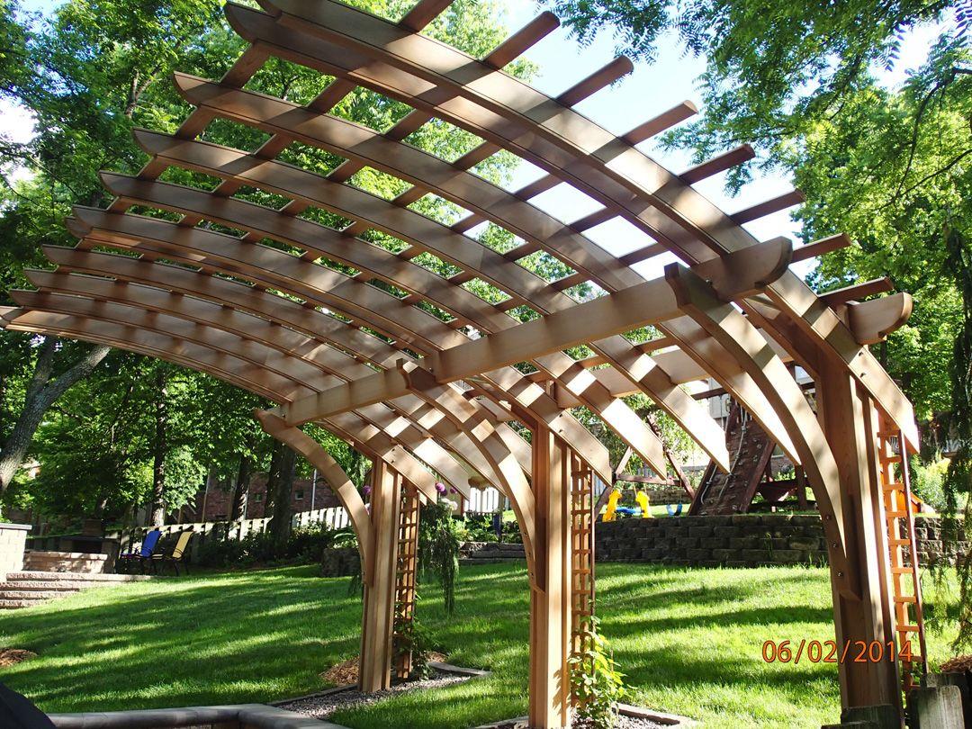Cantilevered Pergola w/Lattice image by Trellis Structures ...