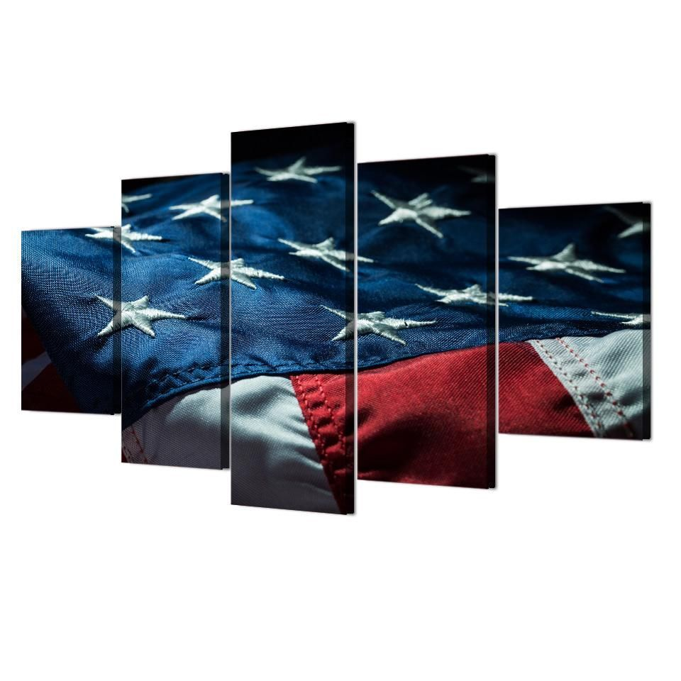 Stars And Stripes United States Old Glory Red White And Blue US American USA Flag 5 Panel Can Stars And Stripes United States Old Glory Red White And Blue US American USA...