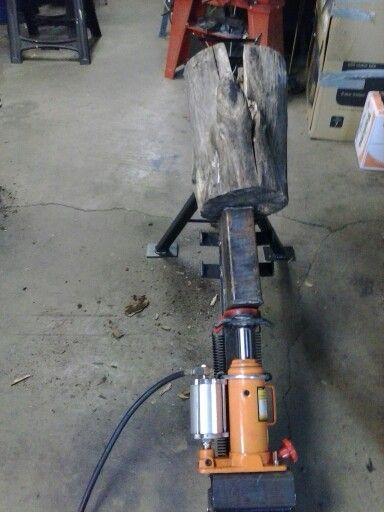 Air Hydraulic Log Splitter Wood Splitter Log Splitter Homemade Tools