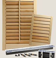 Rockler Shutter System Build Your Own Shutters Hand Tools And Accessories