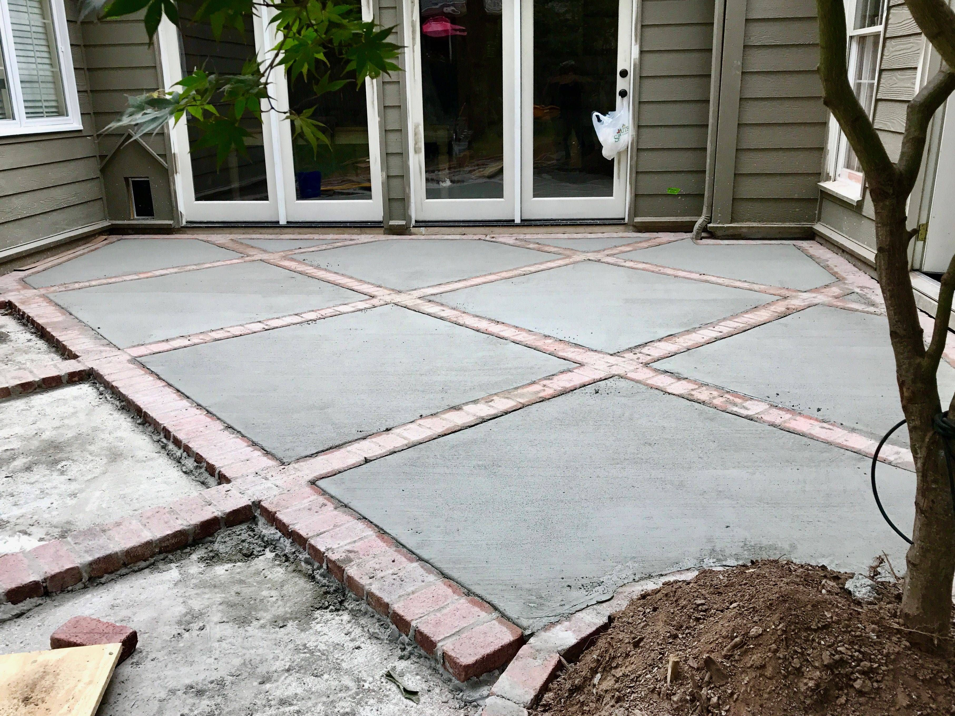 concrete backyard patio stones