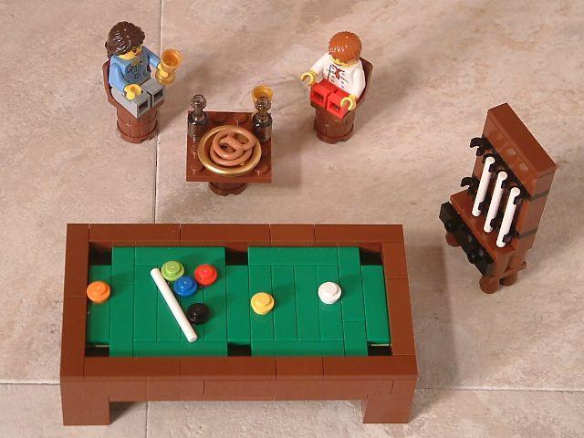 Lego How To Build A Lego Pool Table Lego Furniture Lego Design Lego