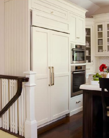 kitchens - white kitchen, concealed fridge, concealed ...