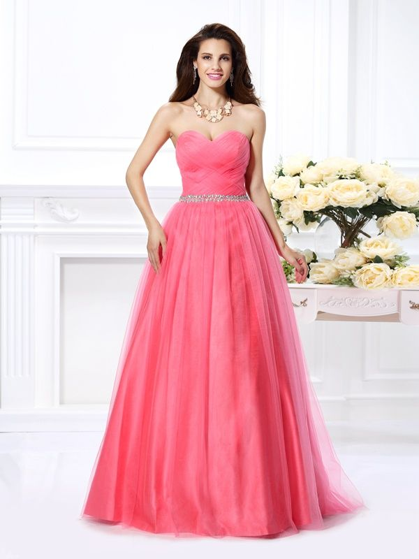 a971918cd577 2019 的 2019 Long Ball Gown Sweetheart Satin Watermelon Prom Dresses ...