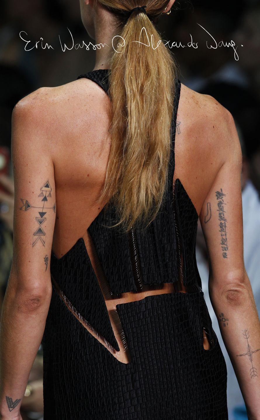I Know What You Wore Last Season Erin Wasson Arm Tattoo Arrow Tattoos