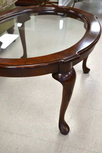 Small Oval Cherrybrook Gl Top Tail Coffee Table