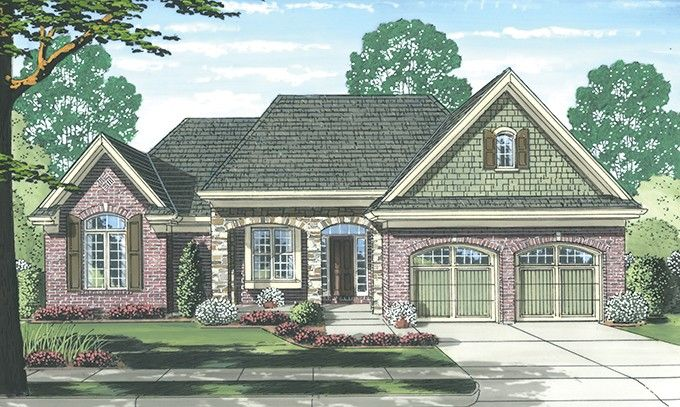 eplans english cottage house plan brick ranch with cottage charm 1902 square feet and - Brick English Home Plans