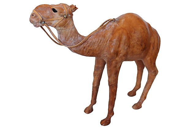 Leather Camel on OneKingsLane.com 99.00 14x4.5x13 H