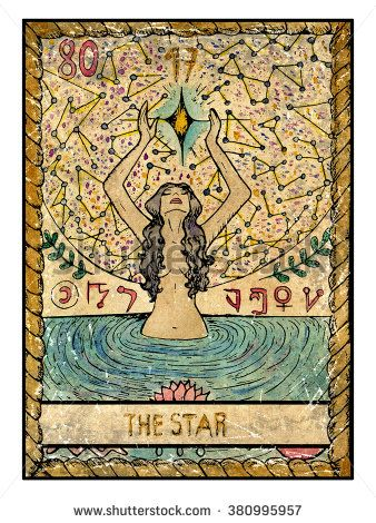 The Star Full Colorful Deck Major Arcana The Old Tarot Card