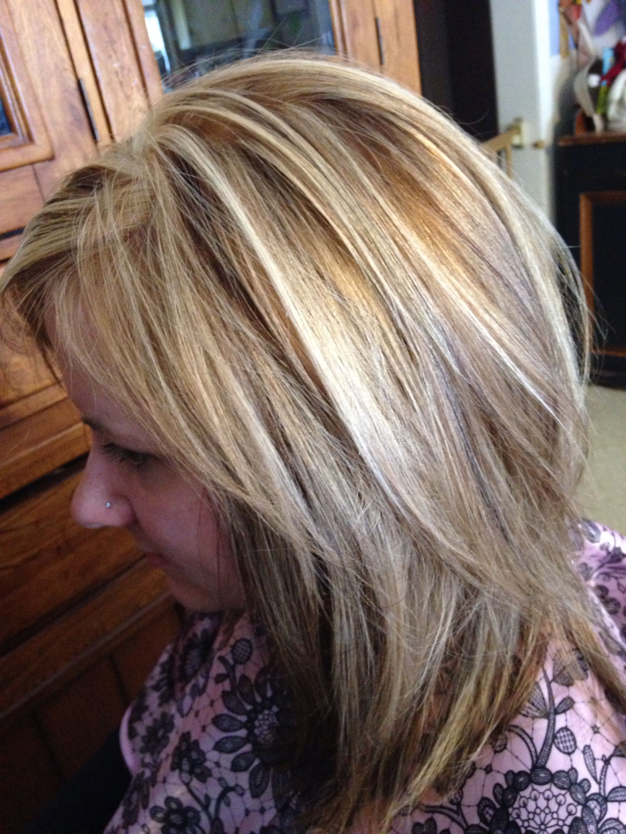 3 color blonde and brown hair foil | sara's hair creations