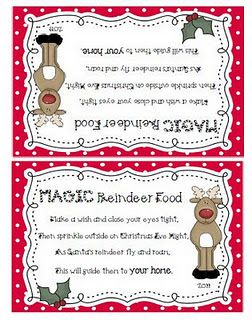 image regarding Reindeer Food Labels Printable named Reindeer Food items! I am sending tiny luggage of this in the direction of the