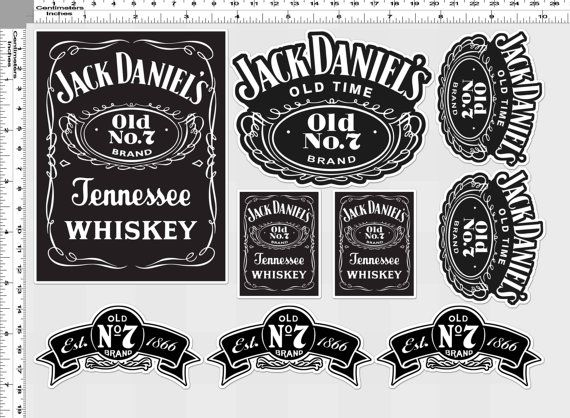 1 set jack daniels old time no 7 tennessee by thaistickerpatch