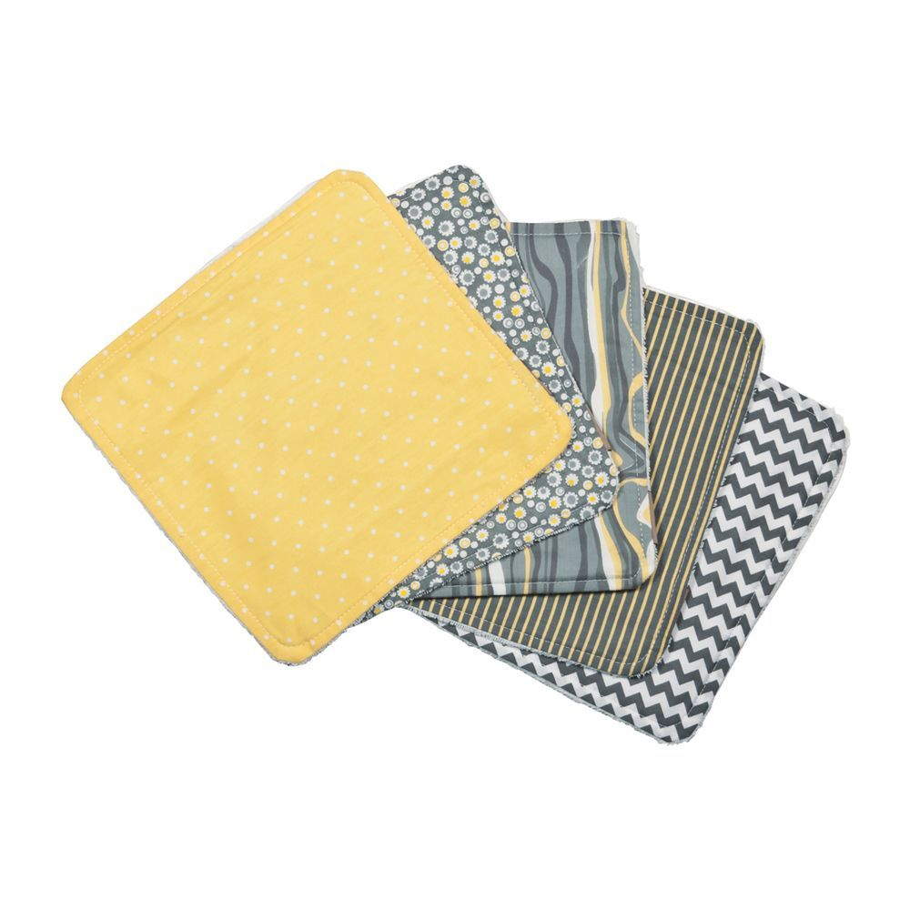 Trend Lab Nursery Baby Hello Sunshine 5 Pack Wash Cloth Set