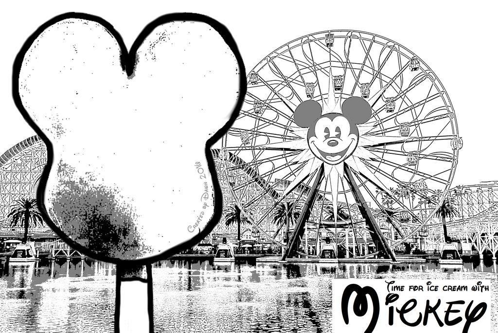 Mickey Bar California Adventure Disneyland Coloring Page