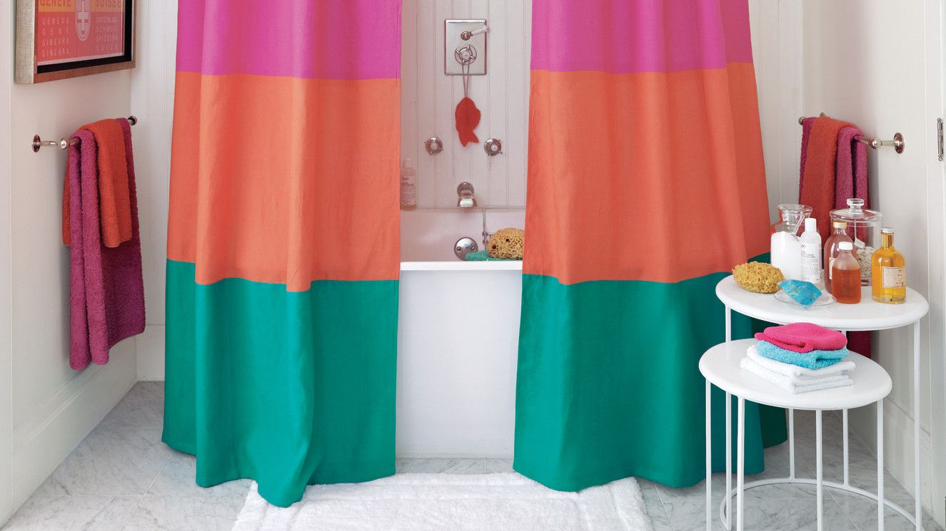 How To Clean A Shower Curtain Liner Color Block Curtains Diy