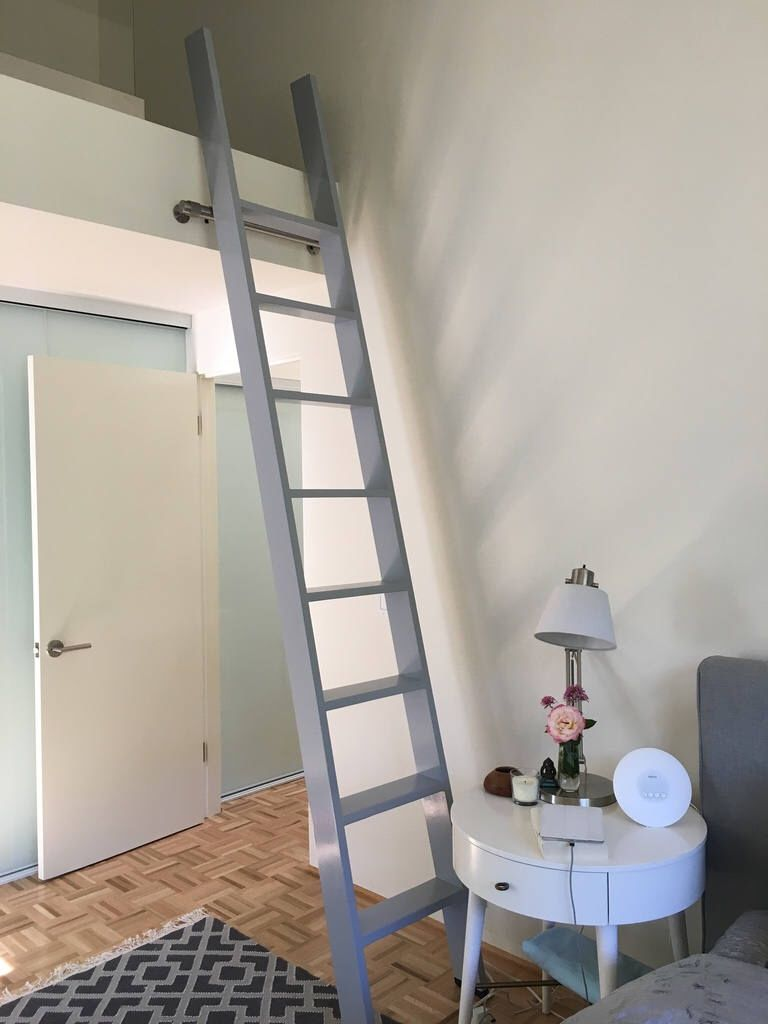 Wood Ladder, Custom Wood Ladder, Library Ladder, Rolling Ladder, Closet  Ladder,