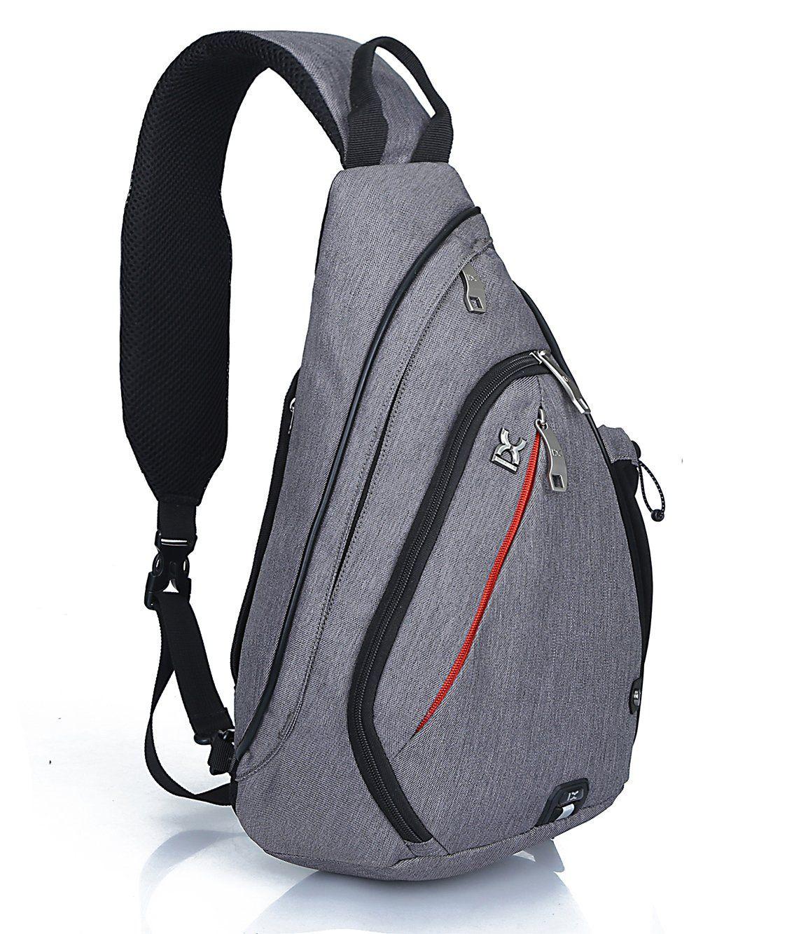 Pioneeryao sling bag backpack pack grey Please note Sizein