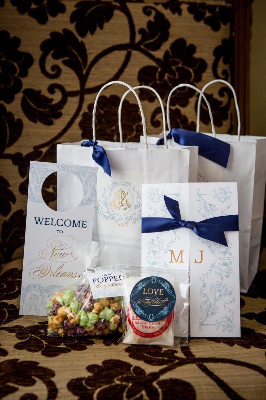 New Orleans Wedding Welcome Bags and Programs | Wedding Welcome Bags ...