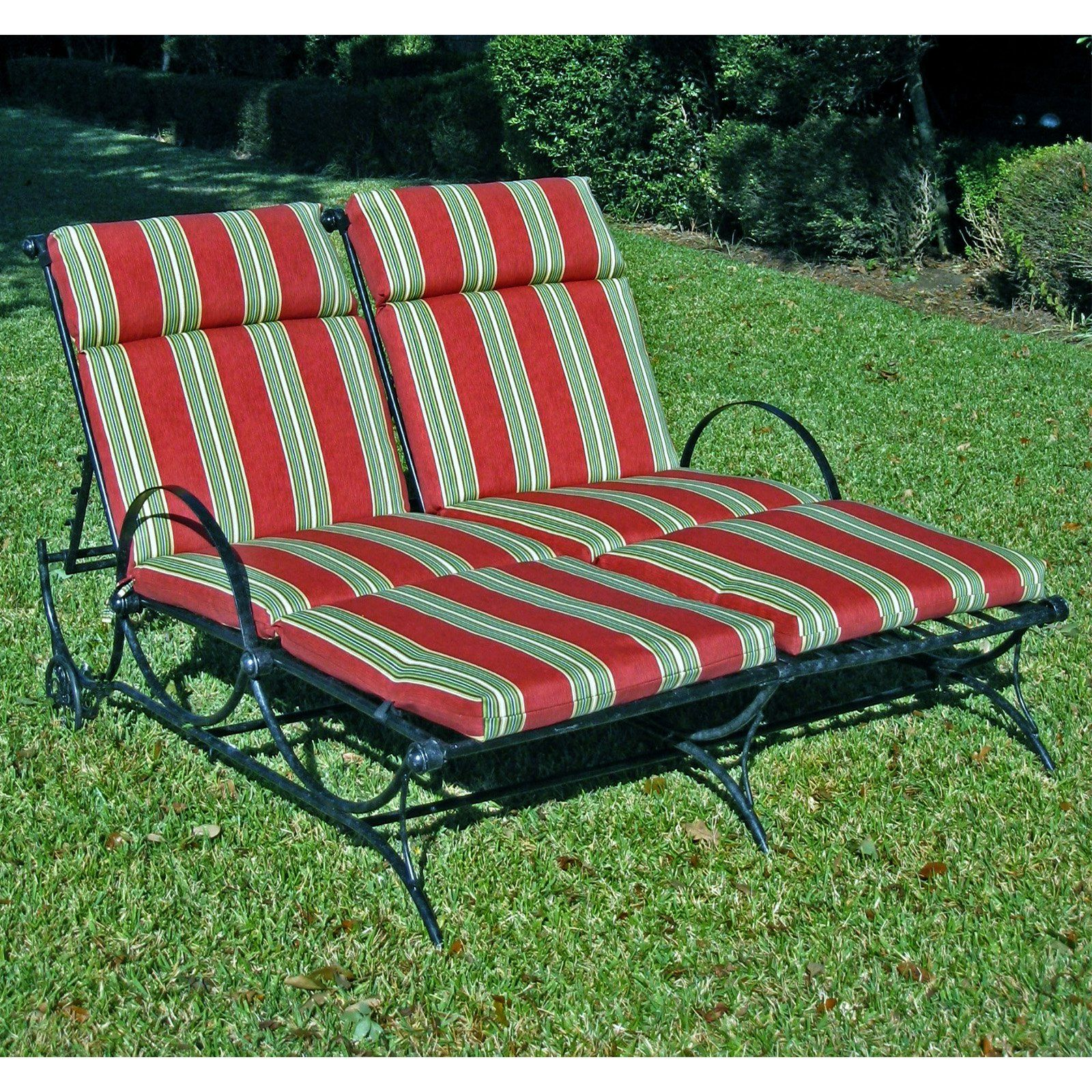 Blazing Needles 48 X 72 In Outdoor Double Chaise Lounge Cushion
