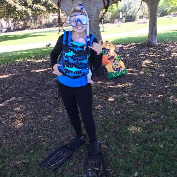 Scuba Diver Easy DIY Halloween Costumes Using Your Baby Tula Carrier. Baby carrier costumes that & Tula Blog | Pinterest | Baby carrier costume Easy diy halloween ...