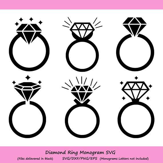 Png Cut File Print Or More Ring Wedding Svg Ring Wedding Monogram Digital Clipart For Design Dxf Instant Files Download Svg Kids Crafts Craft Supplies Tools