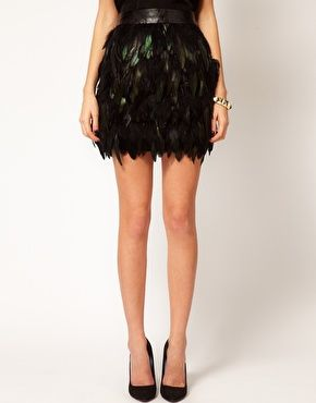 Warehouse - Feather Skirt