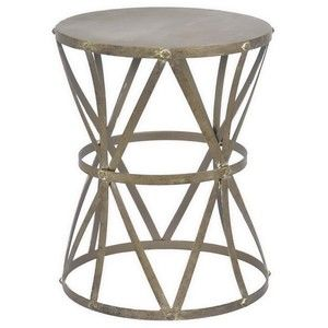 Three Hands Anti Bras Metal Accent Table