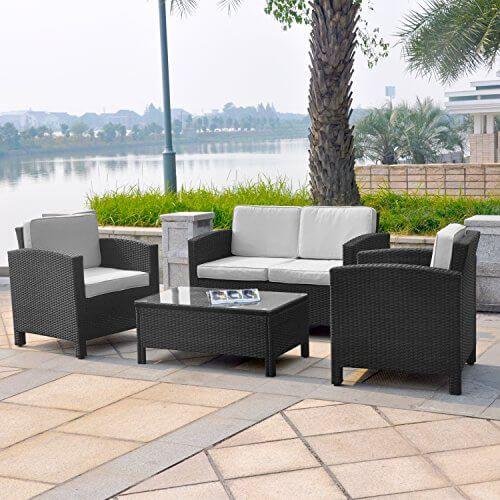 Deluxe Lounge Set Gruppe Garnitur Gartenmöbel Loungemöbel Polyrattan  Sitzgruppe   Handgeflochten   Braun Mix Von XINRO® | Pinterest | Balconiu2026