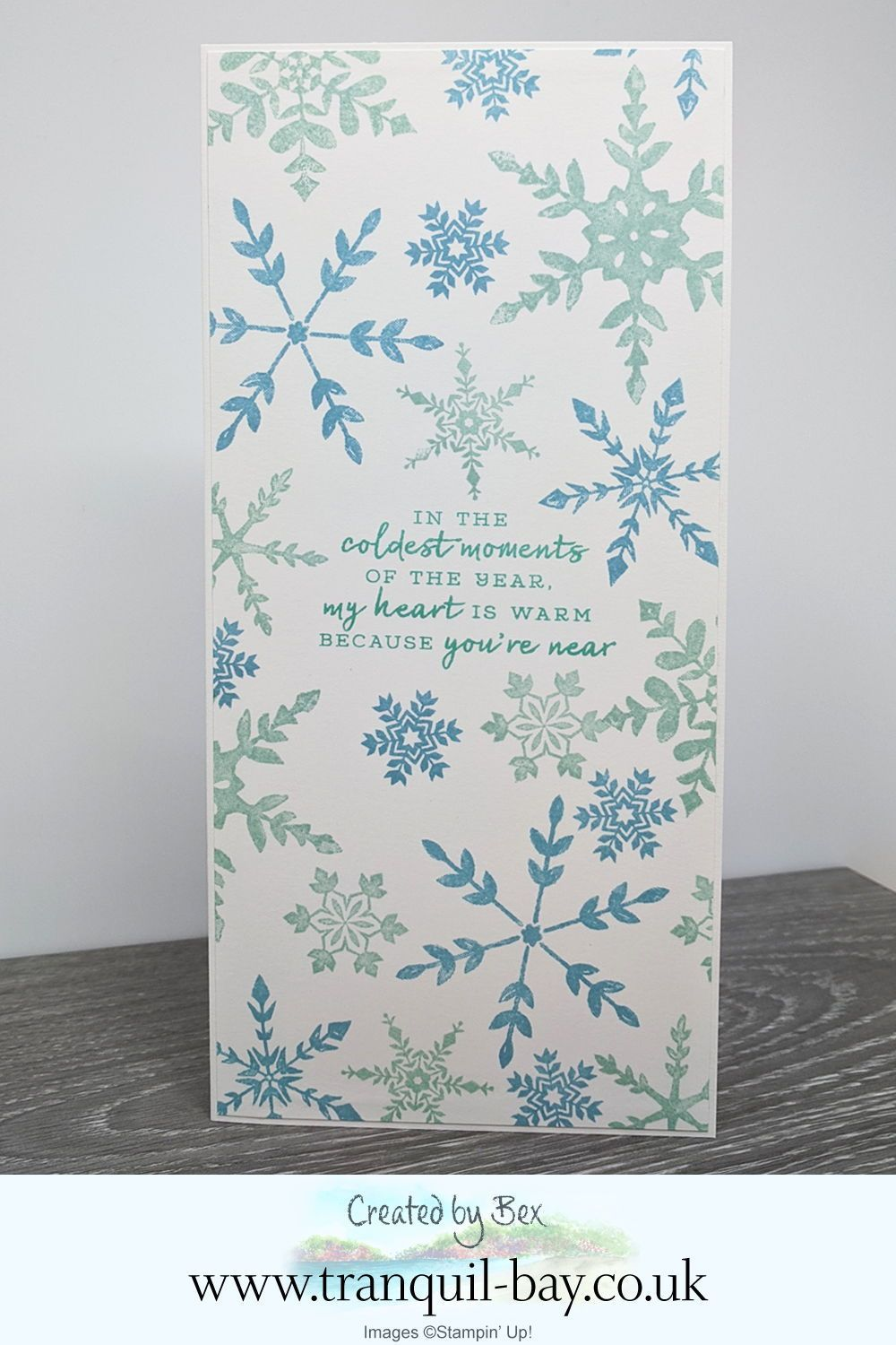 Snowflake Wishes Slimline Card in 2020 Stampin up