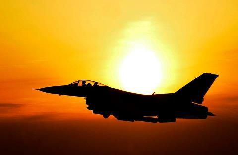 F16 in the sunset.