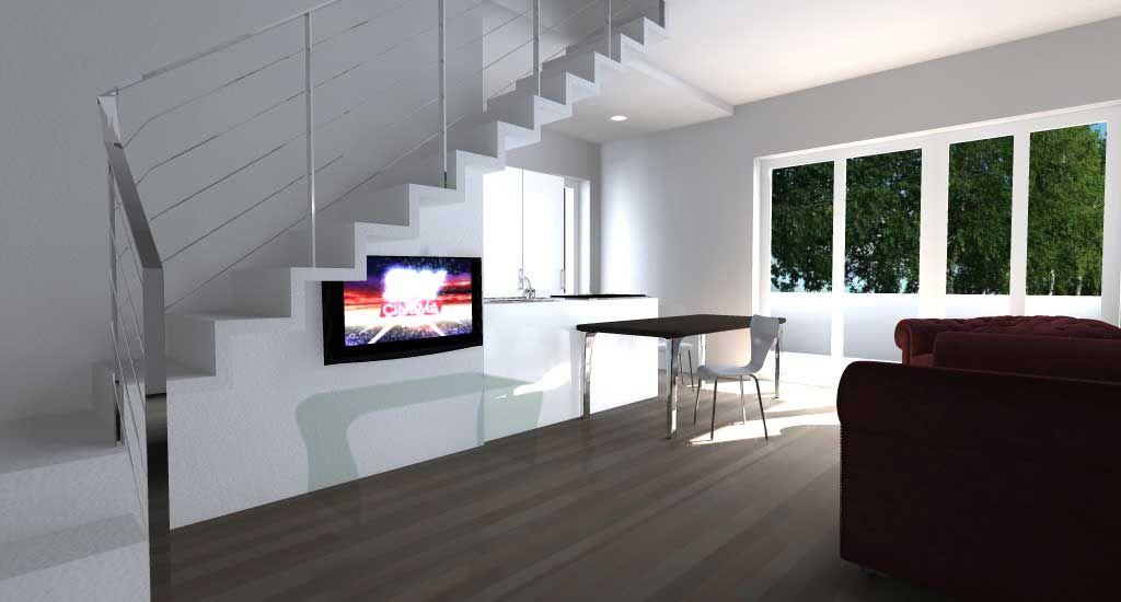 Le case godono di generosi spazi interni, entrambe si sviluppano su due piani con zona giorno e servizi al piano terra, la zona notte al primo piano composta da tre camere da letto ed un bagno. Appartamento Su Due Piani Idee Di Interior Design Idee Per Interni Case
