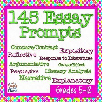Essay Prompts and Essay Topics 145 Reflective, Narrative, Expository